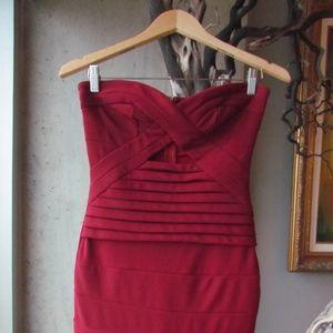 Red Mini Bandage Dress